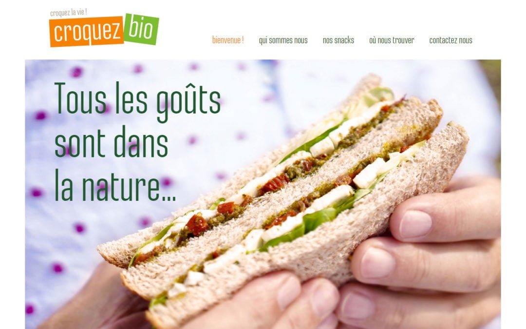Développement Web pour la marque Croquez Bio